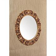 Овальное зеркало настенное 73х58 см цвет золотой, CLK886