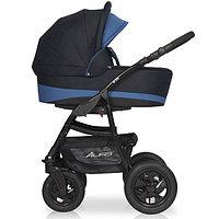 Детская коляска RIKO ALFA BASIC 2 в 1 серый/синий