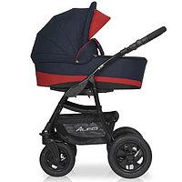 Детская коляска RIKO ALFA BASIC 2 в 1 серый/красный, фото 1