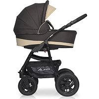 Детская коляска RIKO ALFA BASIC 2 в 1 коричневый/бежевый, фото 1