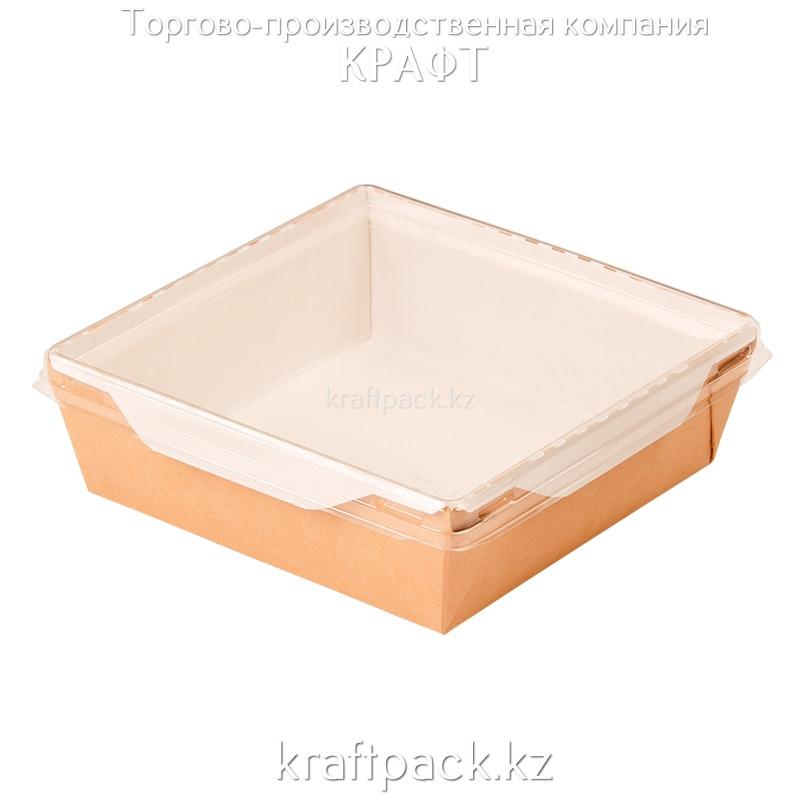 Контейнер, салатник с прозрачной крышкой 900мл 135*135*55 (Eco Opsalad 900) DoEco (50/150)