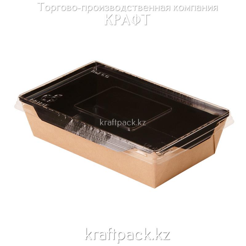 Контейнер, салатник с прозрачной крышкой  Black Edition 800мл 186*106*55 (Eco Opsalad 800 BE) DoEco (50/150)