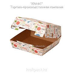 Упаковка для бургеров L 140*140*70 ENJOY (Eco Burger L Enjoy) DoEco (150)