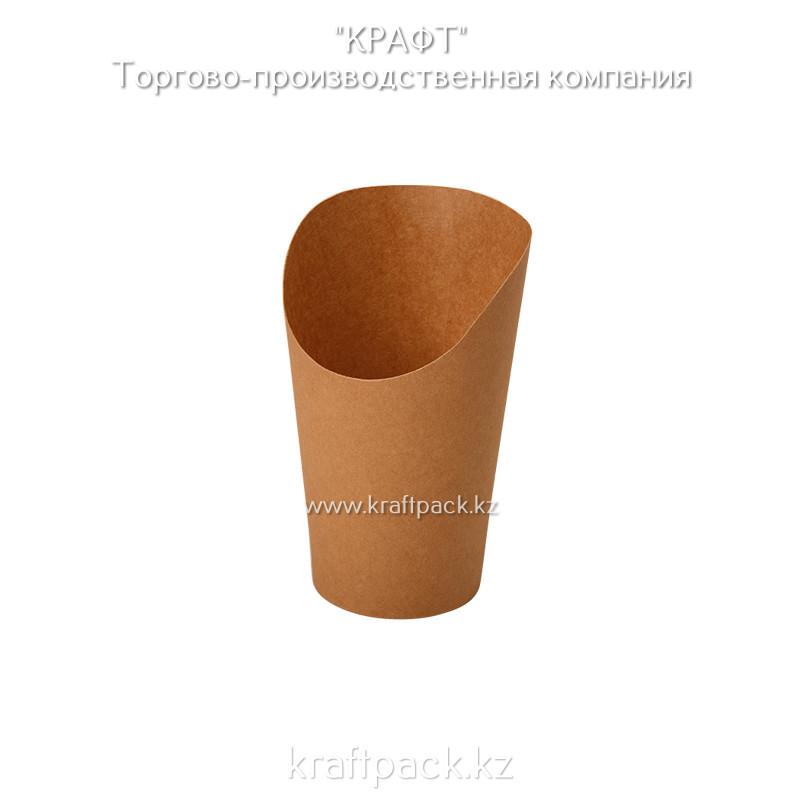 Упаковка для картофеля фри, снеков, поп корна,мороженного M 480мл (Eco Snak Cup M) DoEco (50/1000)