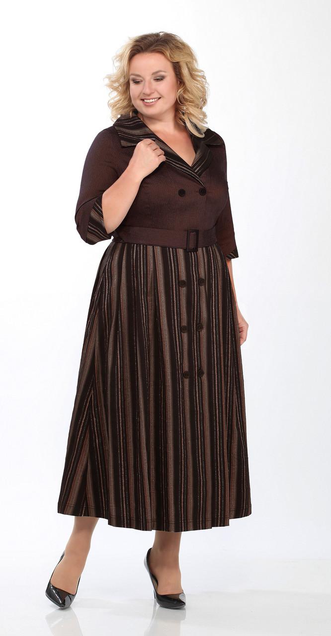 Платье Lady Secret-3612/2, шоколад, 50