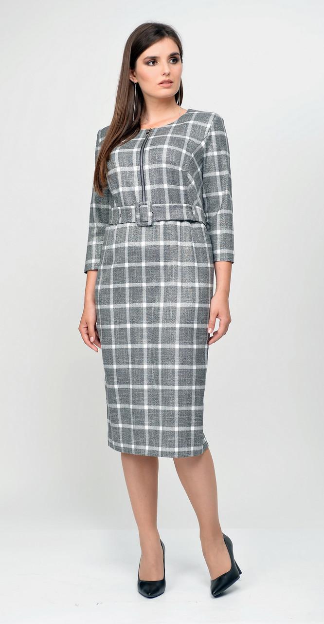 Платье Elga-630, серый, 52
