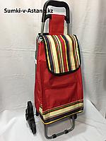 Хозяйственная сумка на колесах,со складным стулом. Высота 92 см, длина 42 см, ширина 49 см., фото 1