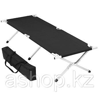 Раскладушка складная Best Camp Mungo, Нагрузка (max): 100 кг, Цвет: Чёрный, Упаковка: Розничная, (89377)