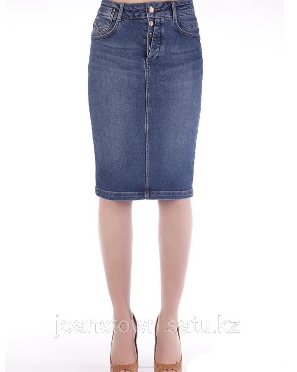 Джинсовая юбка Pantamo синяя