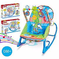 Детское кресло качалка шезлонг с музыкой и игрушками I-baby Rocker, фото 1