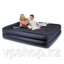 Кровать надувная двуспальная со встроенным насосом 220В (152Х203Х47СМ) INTEX 66702