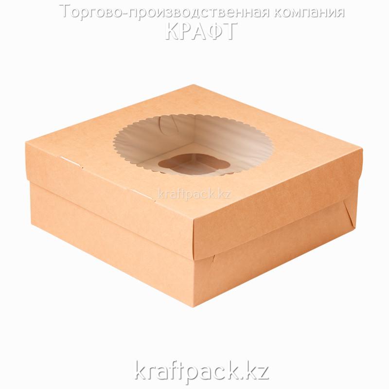 Эко-упаковка, для маффинов 9 штук 250*250*100 DoEco (25/100)