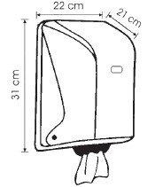Диспенсер рулонных полотенец с центральной подачей (белый), фото 2