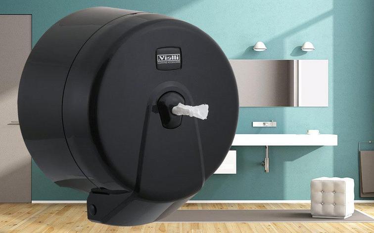 Диспенсер для туалетной бумаги Minipoint (черный), фото 2