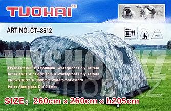 TUOHAI TH-8612 - шестиместная просторная палатка для рыбалки и охоты, доставка