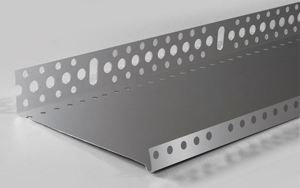 Цокольный ПРОФИЛЬ (алюминий)  с перфорацией и капельником 103 мм (0,5мм)
