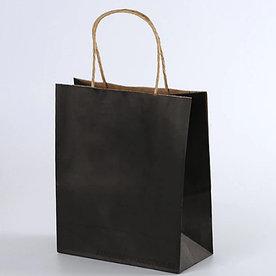 Крафт пакет Черный | 20см*25см