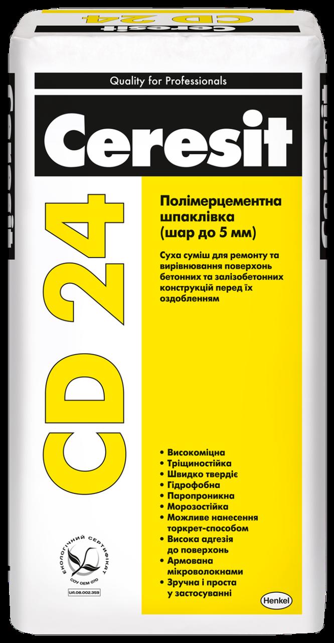 Ceresit CD 24. Шпаклевка для бетона