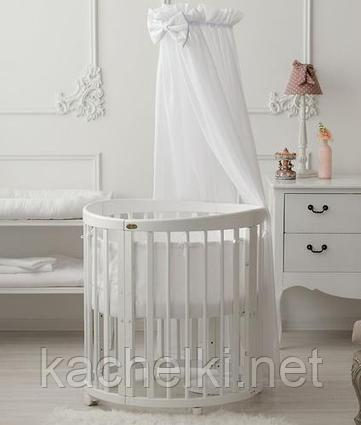 Кроватка детская Bambini овальная М 01.10.14