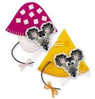 """Набор для вышивания крестом """"Магниты. Мышки"""""""