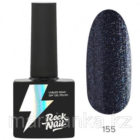 Гель-лак RockNail Basic #155 Sparkly Graphite, 10мл, фото 2