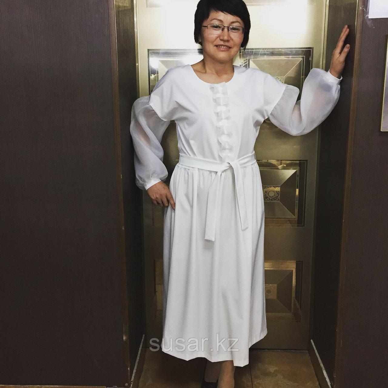 Дизайнерское белое платье