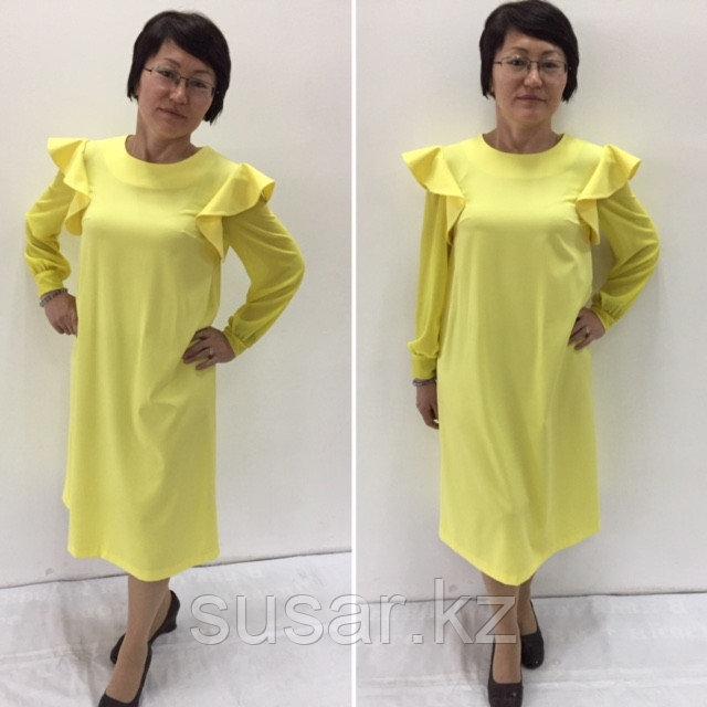 Дизайнерское лимонное платье