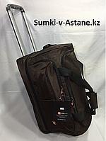 Дорожная сумка среднего размера на колесах Swissgear. Высота 38 см, длина 57 см, ширина 29 см., фото 1