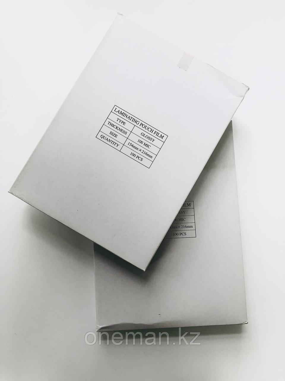 Плёнка для ламинирования пакетная 100 мкн, А5 (154х216мм)