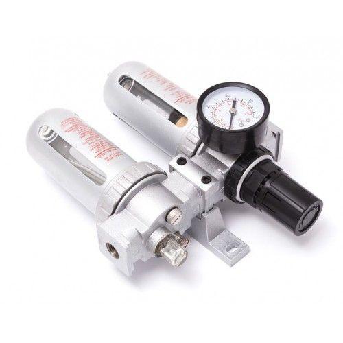 """Блок подготовки воздуха  1/2""""(фильтр + регулятор + маслодобавитель)(0-10bar, температура воздуха: 5°-60°С, 10мк)"""