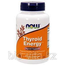 Энергия щитовидной железы (Thyroid Energy), поддержка функций щитовидной железы, 90 капсул. Now Foods