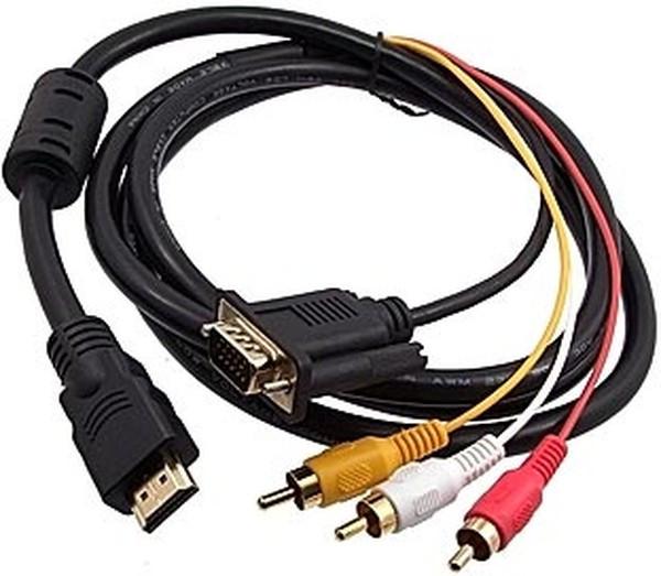 HDMI - 3 RCA 1м