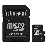 Kingston SDC4/8GBSP Карта памяти, microSD, 16 Gb, Class 4, SDCHC
