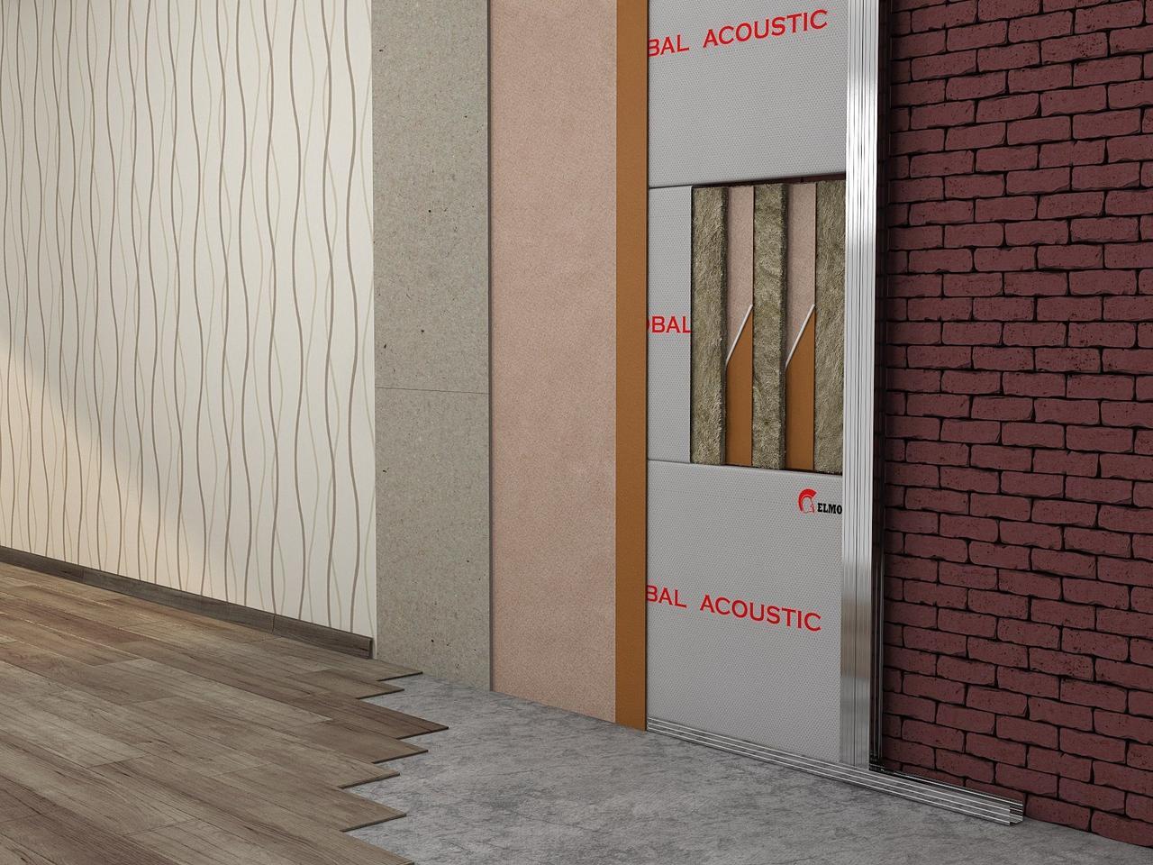 Каркасная звукоизоляция стен Премиум +