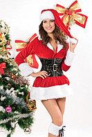 Новогоднее мини платье с корсетом