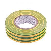 Изолента ПВХ 19 мм х 20 м, желто-зеленая, 150 мкм// Matrix