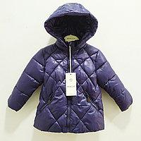 """Куртка осенняя """"Moncler"""" для девочек и мальчиковот 1 до 5лет, синяя."""