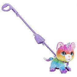 Игрушка FurReal Friends Котик-единорожек на поводке
