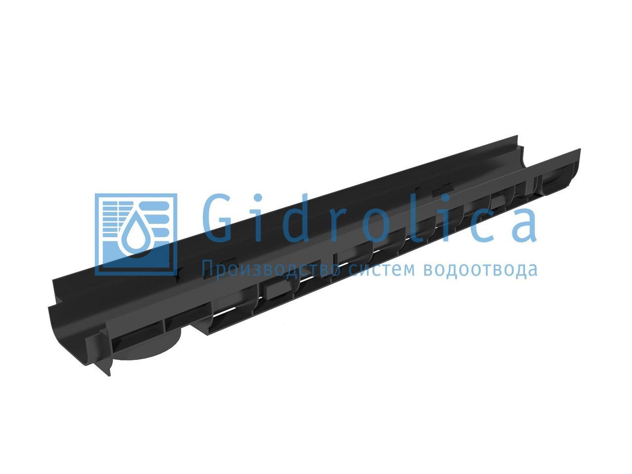 Лоток водоотводный Gidrolica Super ЛВ -10.14,5.12 - пластиковый, кл. Е600
