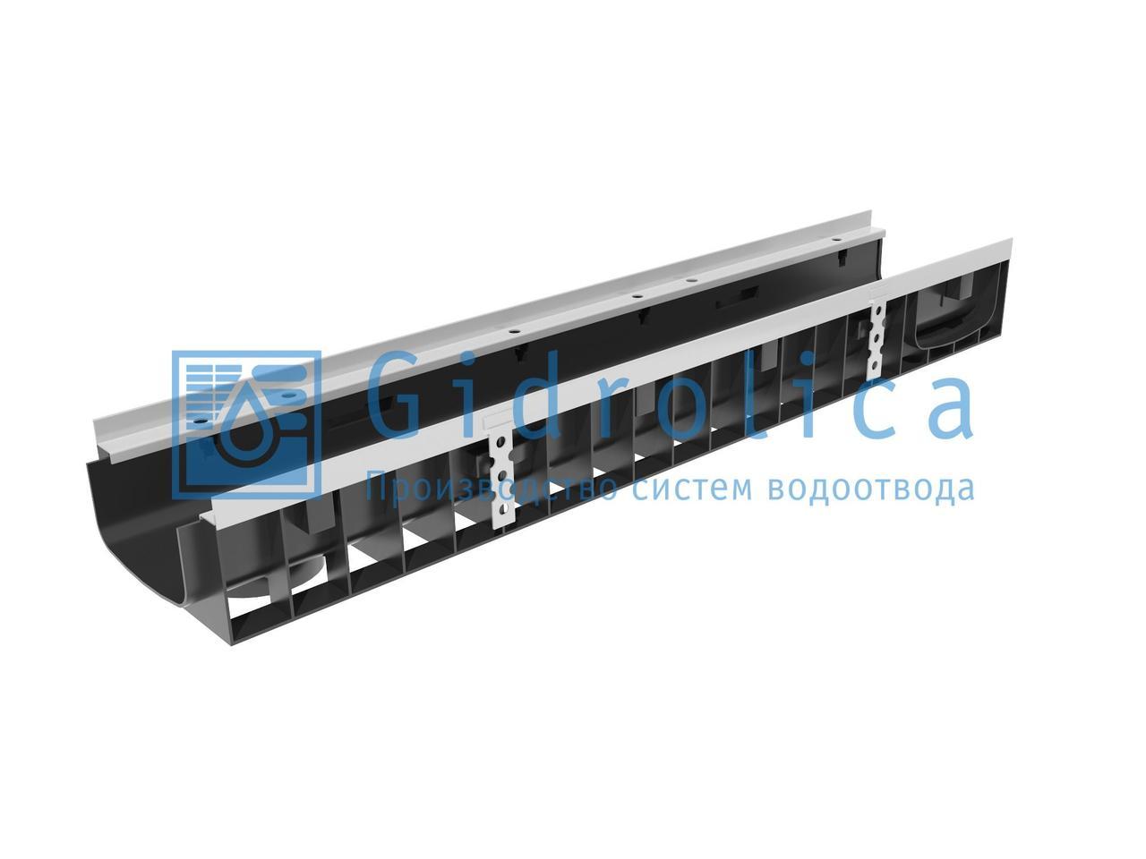 Пескоуловитель Gidrolica Standart Plus ПУ-20.24,6.46 - пластиковый универсальный для лотков пластиковых DN150 и DN200 (усиленный)