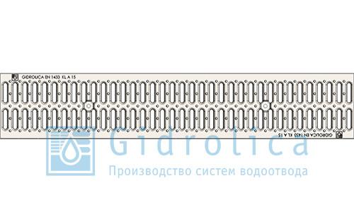 Решетка водоприемная Gidrolica Standart РВ -10.13,6.50 ячеистая чугунная ВЧ оцинкованная, кл. С250