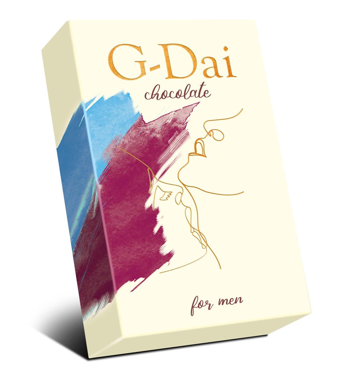 """Возбуждающий мужской тёмный шоколад """"G-Dai"""", 15гр"""