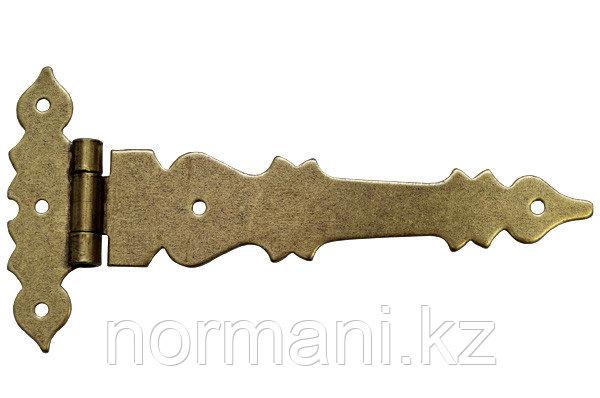 Петля декоративная накладная 145х70х2 , отделка бронза античная