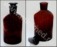 Бутыль для реактивов с притертой пробкой темное стекло 10 000 мл (узкое горло)