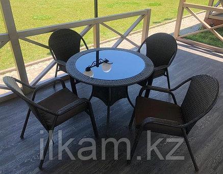 Стол и стулья из искусственного ротанга, фото 2