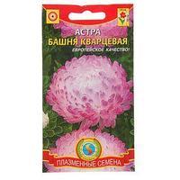Семена цветов Астра 'Башня' кварцевая, О, 0,3 г (комплект из 20 шт.)