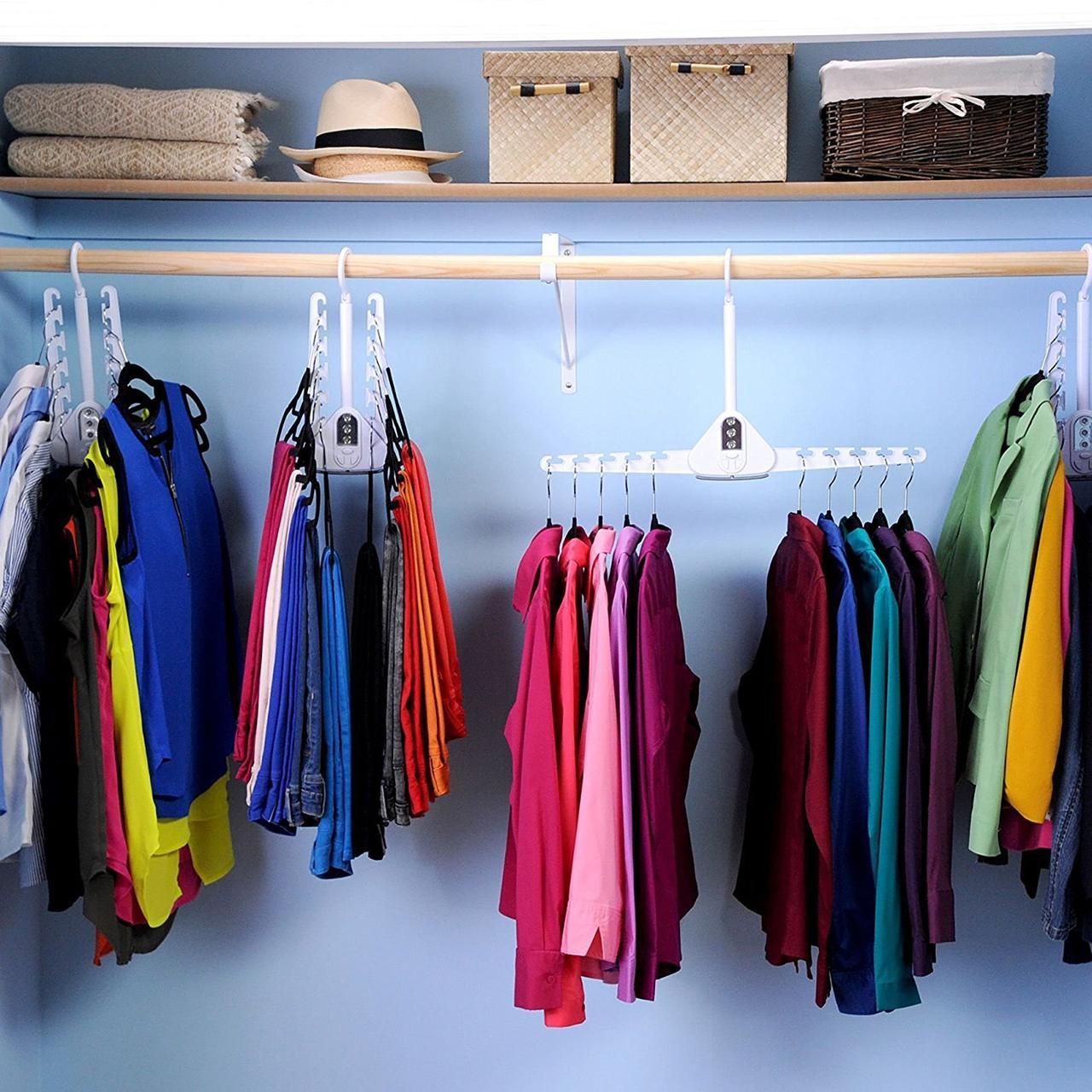 Складная двойная вешалка для одежды
