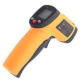 НЕ медицинский пирометр. Строительный инфракрасный измеритель температуры Benetech GM550 до 550°С, фото 2