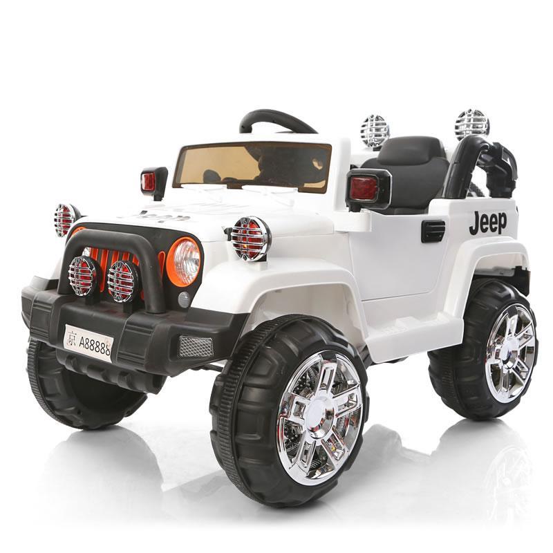 Электромобиль Jeep Wrangler FB-716 (пластик), белый