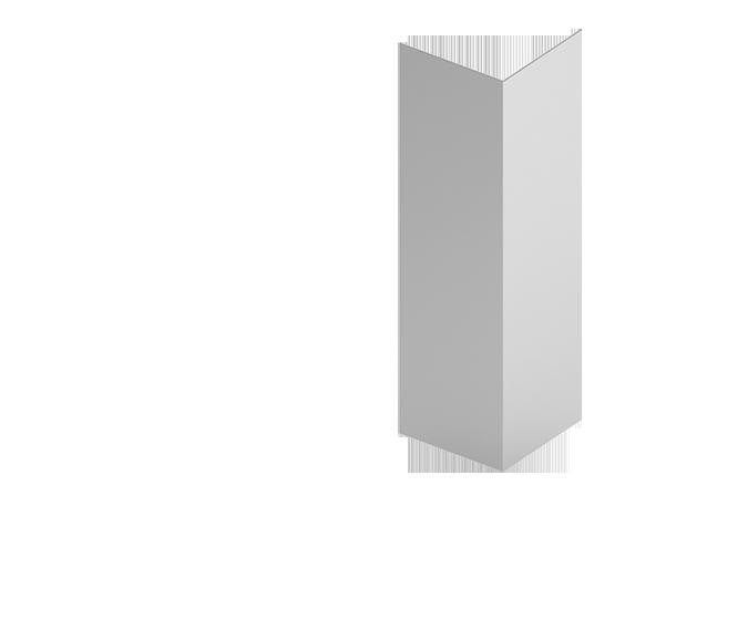 Стойка угловая  для подконструкцию  вентилируемого фасада с нержавеющий стали
